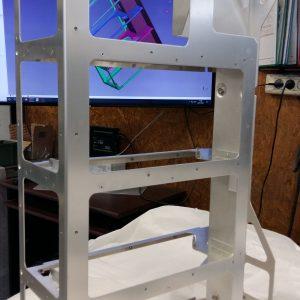 Châssis riveté en aluminium épaisseur 2 et 3 mm assemblé