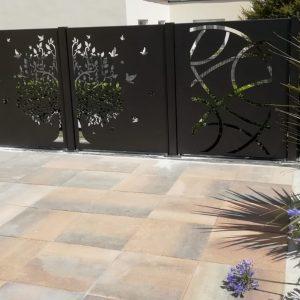 Aménagement extérieur en aluminium - Peinture noire 2100