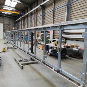 Support publicitaire en acier galvanisé (longueur 20m - hauteur 2m)